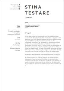 Mall för personligt brev från Aspirantus i klassisk stil nummer 1