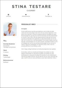 Enkel stilren mall för personligt brev inklusive fotografi