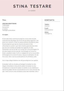 Mall för personligt brev från Aspirantus i kreativ stil nummer 2