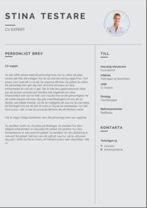 Mall för personligt brev från Aspirantus i modern stil nummer 3